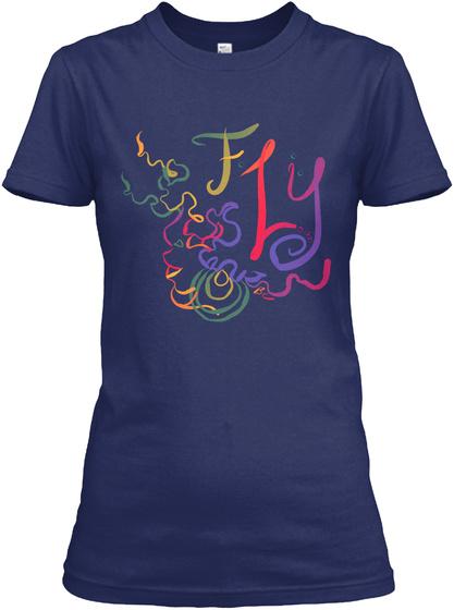 Fly Midnight Navy T-Shirt Front