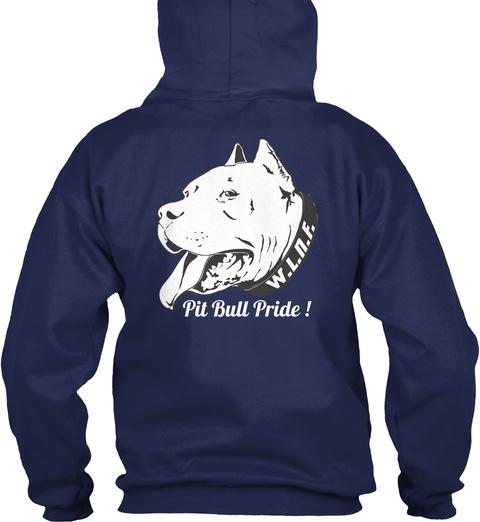 W.I.N.K W.L.N.F. Pit Bull Pride! Navy T-Shirt Back