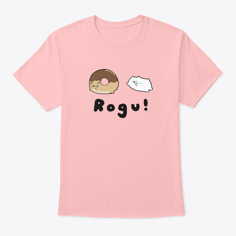 Donut Chasing Rogu Pale Pink T-Shirt Front
