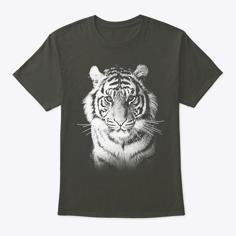White Tiger Smoke Gray T-Shirt Front