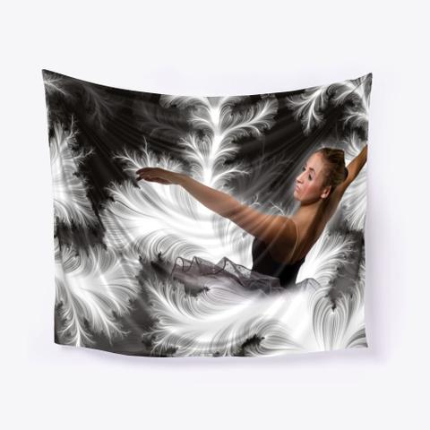 Ballerina Wall Tapestries Art | Pillow Standard T-Shirt Front