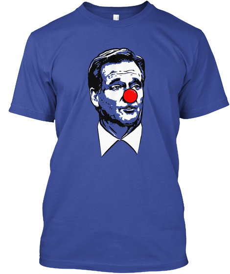 Roger Clown Shirt Deep Royal Maglietta Front