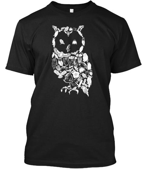 0/1 Black T-Shirt Front