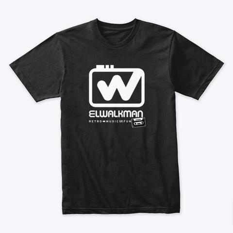 El Walkman   Retro Music Black T-Shirt Front