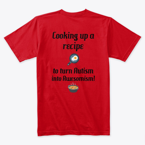 Awesomism Cooking Red T-Shirt Back