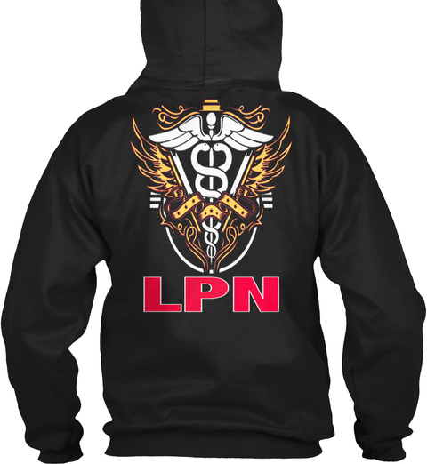 Lpn   Licensed Practical Nurse   130 Black T-Shirt Back