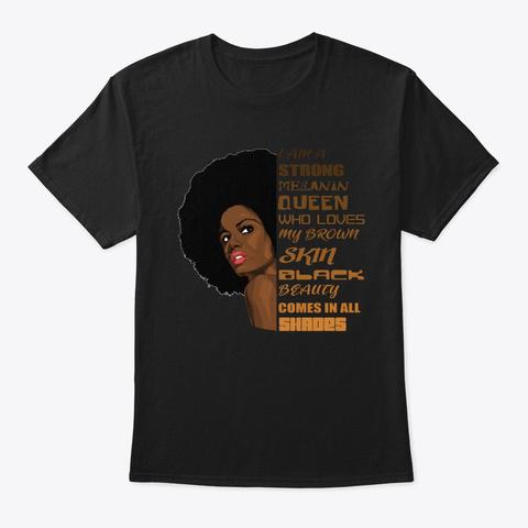 Pretty Black Educated Women Diva Afro Black T-Shirt Front