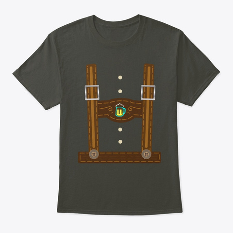 Lederhosen Costume Oktoberfest German Smoke Gray T-Shirt Front