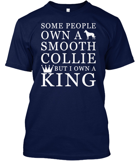 Smooth Collie Navy T-Shirt Front