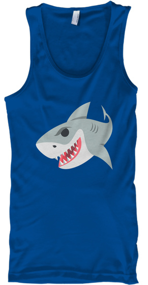 Unisex Sharky Squad Tank Top  Royal Regata Front