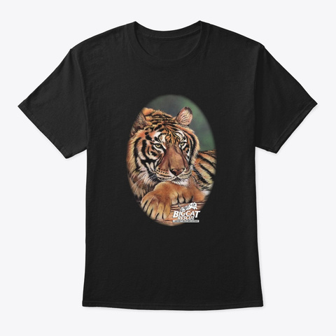 Hoover Tiger Rescued From A Circus Black T-Shirt Front