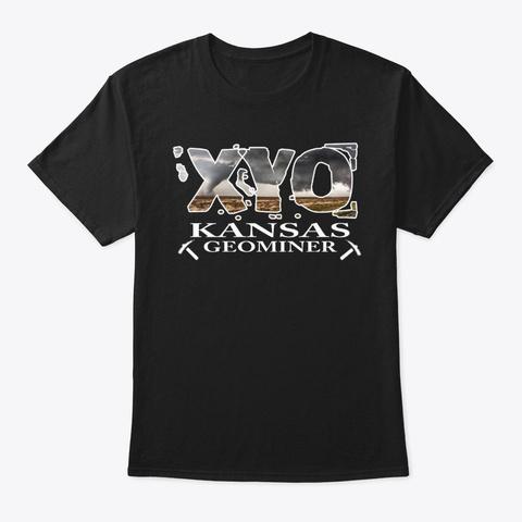 Xyo Kansas Design Black T-Shirt Front