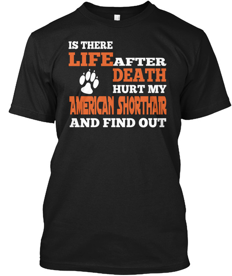 Is There Life After Death Hurt My American Shorthair And Find Out Black T-Shirt Front