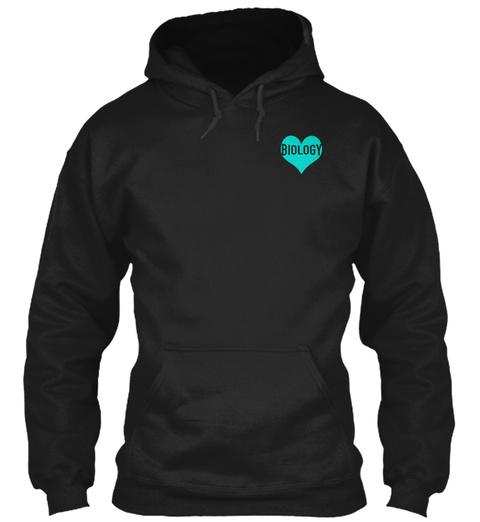 Biology Black Sweatshirt Front