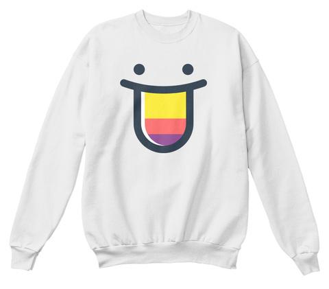 Color Hunt Sweatshirt White  Sweatshirt Front