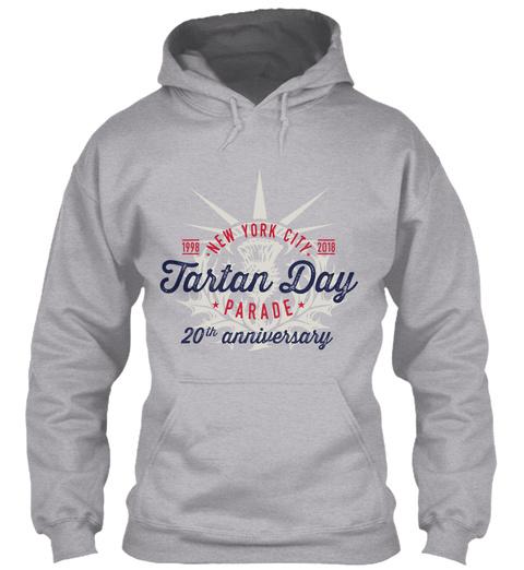 New York City  Tartan Day Parade 20th Anniversary Sport Grey Sweatshirt Front