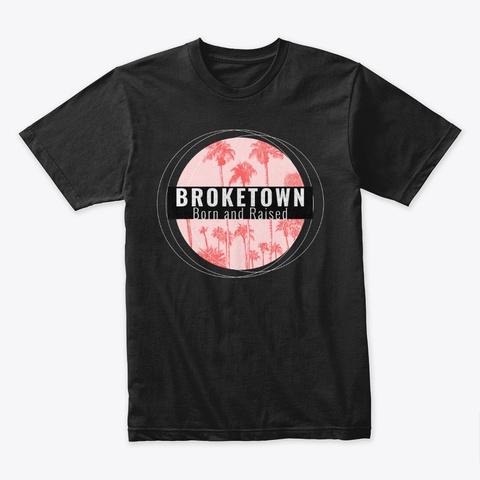 Broketown   Palm Black T-Shirt Front