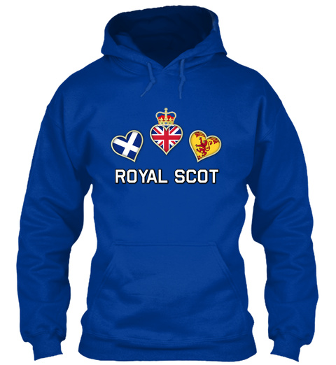 Royal Scot Royal Blue T-Shirt Front