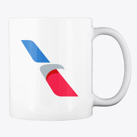 American Airlines   Mug White T-Shirt Back