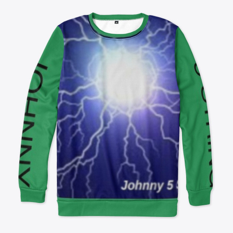 Johnny 5 String   Faster   Single   Art Green T-Shirt Front
