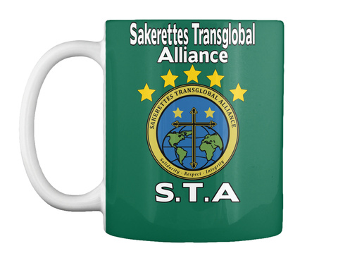 Sakerettes Transglobal Alliance Sakerettes Transglobal Alliance Solidarity Respect Integrity Sta Forest Green Mug Front