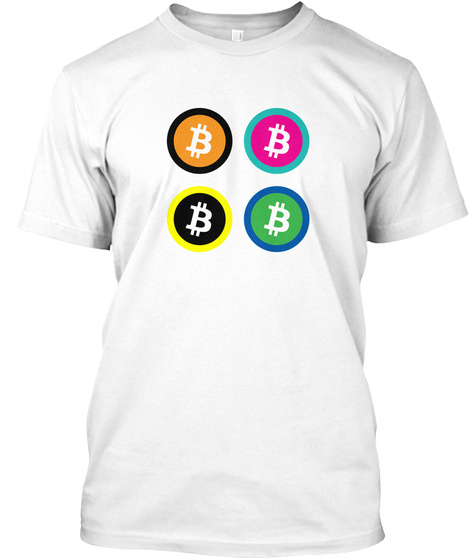 Colorful Coins Tee White T-Shirt Front
