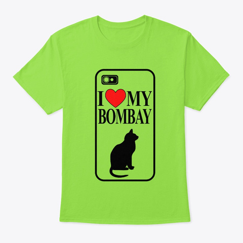 Bombay Cat Lime T-Shirt Front