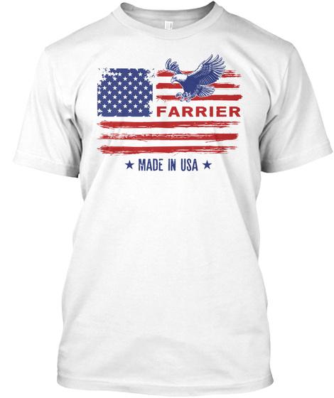 Proud Farrier White T-Shirt Front