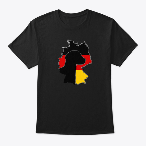 German Shorthaired Pointer Country Black T-Shirt Front