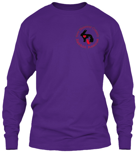 New Hanover County Rabbit Rescue Purple Long Sleeve T-Shirt Front