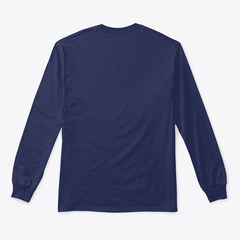 Valor Ridge Long Sleeve Navy T-Shirt Back