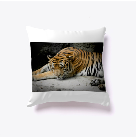 Tiger Sleep White T-Shirt Front