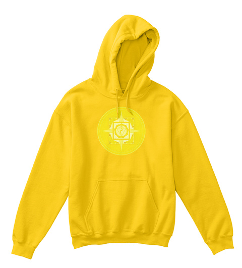 Kids Hoodie Manipura Chakra Sun Yellow T-Shirt Front