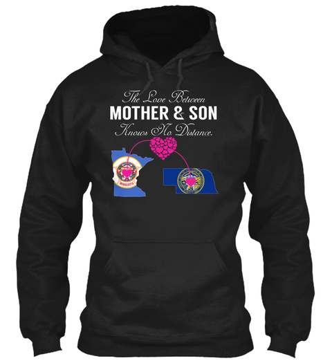Mother Son   Minnesota Nebraska Black Sweatshirt Front