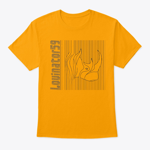 L59 Zoo Print Gold T-Shirt Front