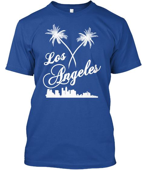 Los Angeles Deep Royal T-Shirt Front