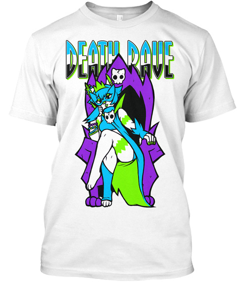 Death Rave White T-Shirt Front