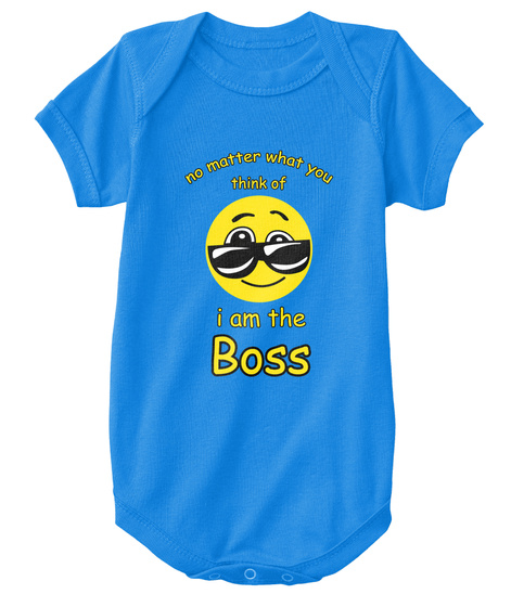 I Am The Boss Royal T-Shirt Front