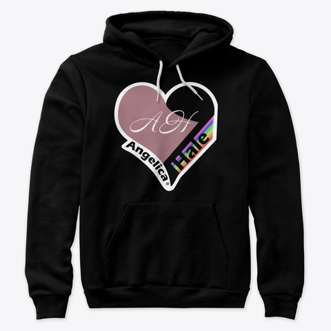 Angelica Hale Pastel Heart Logo! Black T-Shirt Front