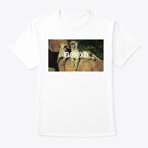 Lions Wild Cats Feline Grrr  White T-Shirt Front