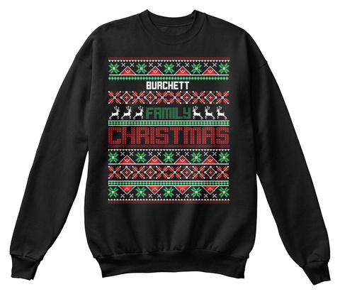 Burchett Family Christmas Black T-Shirt Front