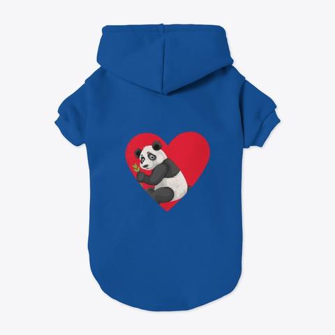 Panda Anime Heart Loves Japanese Panda Blue T-Shirt Back