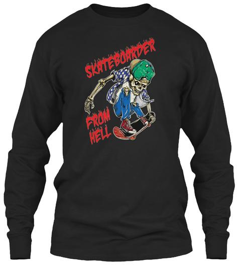 Freestyle Skateboarder Black T-Shirt Front
