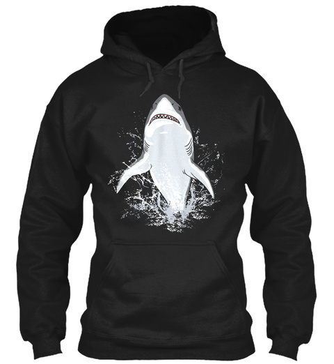 Shark Black T-Shirt Front