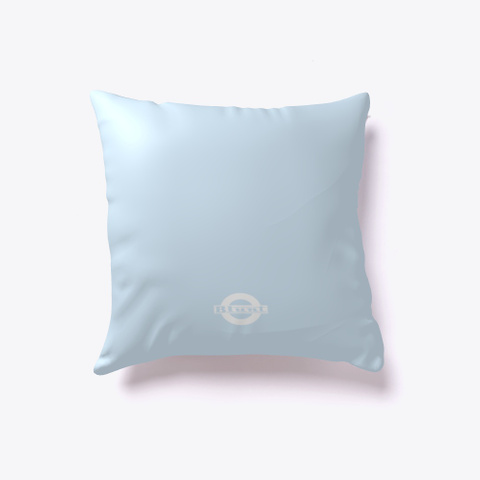 Blunt Target  Pillow Pale Blue T-Shirt Back