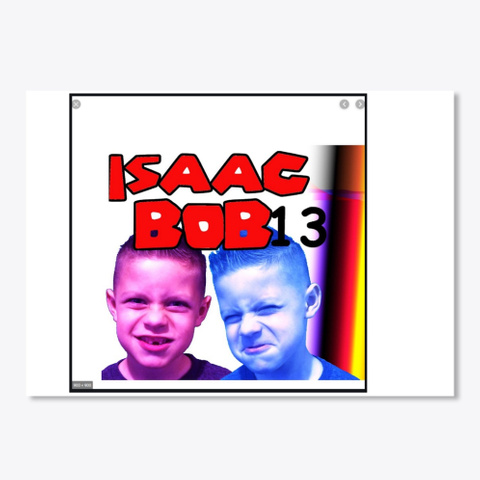 Isaacbob13  Sticker White T-Shirt Front