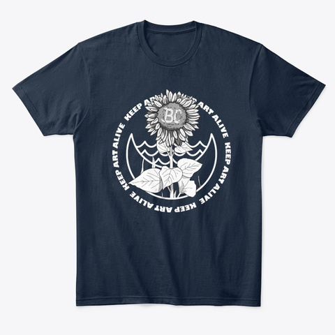 Keep Art Alive New Navy T-Shirt Front