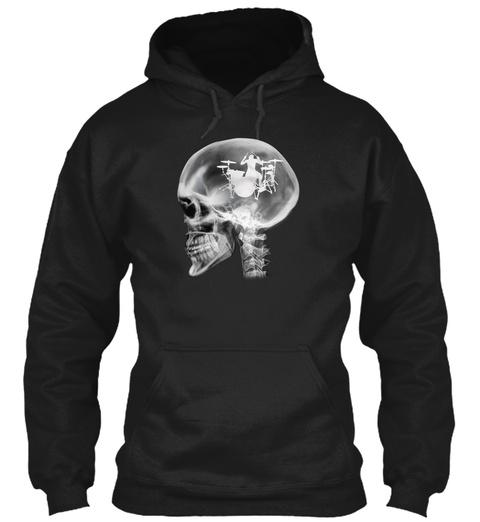 Drummer's Brain Black T-Shirt Front