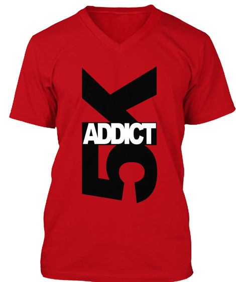 Addict 5k Red T-Shirt Front