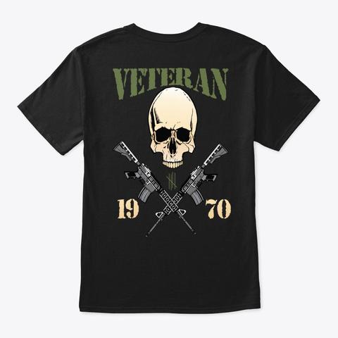 Veteran   1970 Black T-Shirt Back